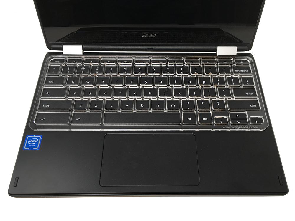 """Keyguard in 3/16"""" acrylic on the Acer C720."""