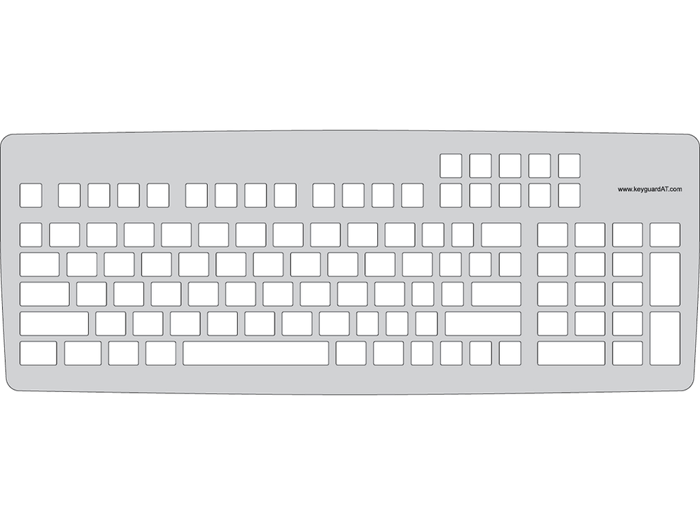 Keyguard for the MoreKeyboard.