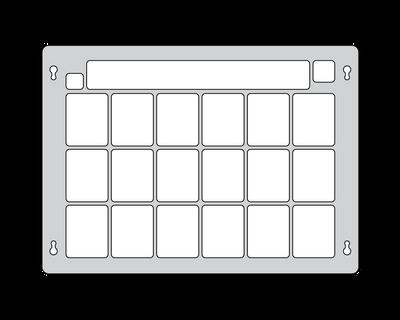 Clicker Communicator Keyguard