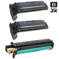 Compatible Xerox Black Drum and Laser Toner Cartridges Set (106R01047 x2/ 113R00671)