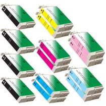 Compatible EPSON T079 STYLUS PHOTO 1400 SET 14 INK CARTRIDGES: 4 BLACK/2 EACH