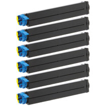 Compatible Okidata 42103001 Laser Toner Cartridge Black 6 Pack