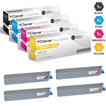 Okidata Laser Toner Cartridges Compatible 4 Color Set (43487736/ 43487735/ 43487734/ 43487733)
