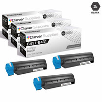 Compatible Okidata 44574701 Laser Toner Cartridges Black 3 Pack