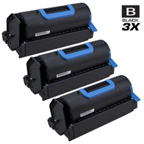 Compatible Okidata 45488801 Laser Toner Cartridges Black 3 Pack