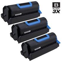 Compatible Okidata 45488801 Laser Toner Cartridges Black 3 Pack