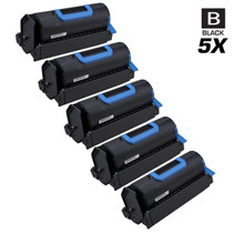 Compatible Okidata 45488801 Laser Toner Cartridges Black 5 Pack
