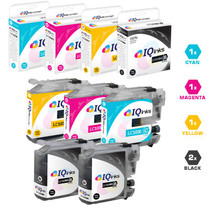 Brother LC103 Premium OEM Quality InkJet Compatible Cartridge High Yield 5 Color Set ( 2 x LC103BK/ LC103C/ LC103M/ LC103Y)