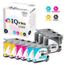 Brother LC103 Premium OEM Quality InkJet Compatible Cartridge High Yield 9 Color Set (LC103BK/ LC103C/ LC103M/ LC103Y)