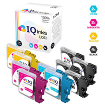 Brother LC61 Premium OEM Quality InkJet Compatible Cartridge 10 Color Set (LC61BK/ LC61C/ LC61M/ LC61Y)
