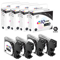 Brother LC61BK Premium OEM Quality InkJet Compatible Cartridge 4 Black Set