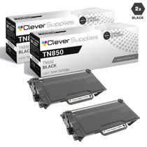 Brother TN850 Laser Toner Cartridge Compatible High Yield Black 2 Pack
