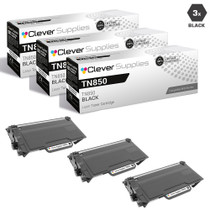 Brother TN850 Laser Toner Cartridge Compatible High Yield Black 3 Pack