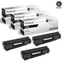 Compatible Canon 128 (3500B001AA) Toner Cartridges Black 3 Pack