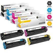 Canon 131H & 131 Premium OEM Quality Toner Cartridges Compatible 4 Color Set (6273B001AA/ 6271B001AA/ 6270B001AA/ 6269B001AA)