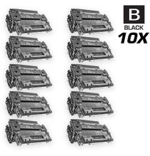 CS Compatible Replacement for HP CE255A Toner Cartridge Black 10 Pack/ HP 55A