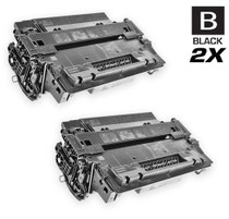 CS Compatible Replacement for HP CE255A Toner Cartridge Black 2 Pack/ HP 55A