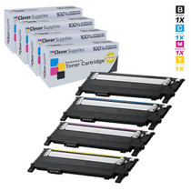 Samsung CLP-367W Premium OEM Quality Compatible Laser Toner Cartridges 4 Color Set