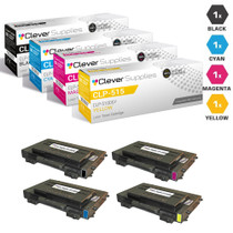 Compatible Samsung CLP-515 Premium Quality Laser Toner Cartridges 4 Color Set