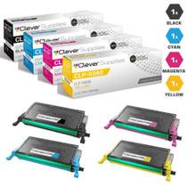 Compatible Samsung CLP-610ND Laser Toner Cartridges 4 Color Set