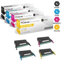 Compatible Samsung CLP-670ND Laser Toner Cartridges 4 Color Set