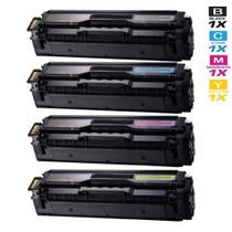 Compatible Samsung CLT-504S Laser Toner Cartridges 4 Color Set (CLT-K504S/ CLT-C504S/ CLT-M504S/ CLT-Y504S)