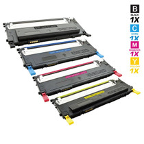 Compatible Samsung CLX-3170FN Laser Toner Cartridges 4 Color Set