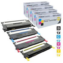 Compatible Samsung CLX-3170FN Premium Quality Laser Toner Cartridges 4 Color Set