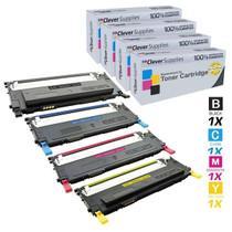 Compatible Samsung CLX-3175F Premium Quality Laser Toner Cartridges 4 Color Set
