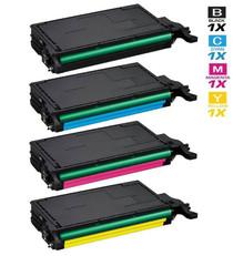 Compatible Samsung CLX-6220FX Laser Toner Cartridges 4 Color Set