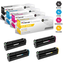 Compatible Samsung CLX-6260FR Laser Toner Cartridges 4 Color Set