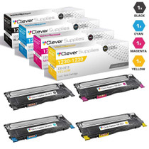 Dell 1230c Premium OEM Quality Laser Toner Compatible Cartridge 4 Color Set