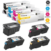 Dell 1250cnw Premium OEM Quality High Yield Toner Cartridges 4 Color Set