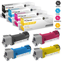Dell 2130cn Toner Compatible Cartridge High Yield 4 Color Set