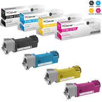Dell 2150cdn Premium OEM Quality Toner Compatible Cartridge High Yield 4 Color Set