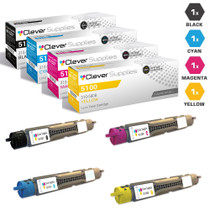Dell 310-5807/ 310-5810/ 310-5809/ 310-5808 Laser Toner Compatible Cartridge High Yield 4 Color Set