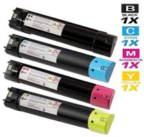 Dell 330-5846/ 330-5850/ 330-5843/ 330-5852 Toner Compatible Cartridge High Yield 4 Color Set