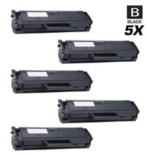 Compatible Dell B1163W Toner Cartridge Black 5 Pack