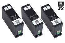 Compatible Dell 331-7377 Ink Cartridge Extra High Yield Black 3 Pack