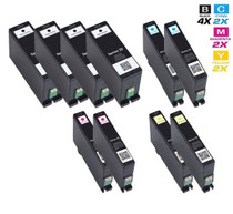 Compatible Dell Extra High Yield Ink Cartridge 10 Set (4 x 331-7377/ 2 x 331-7378/ 2 x 331-7379/ 2 x 331-7380)