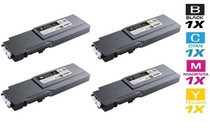 Dell 331-8429/ 331-8432/ 331-8431/ 331-8430 Toner Compatible Cartridge Extra High Yield 4 Color Set