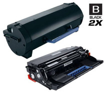 Compatible Dell 331-9807 Toner and 331-9810 Drum Cartridge MICR High Yield Black