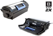 Compatible Dell 332-0131 Toner and 332-0132 Drum Cartridge MICR Extra High Yield Black