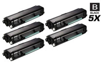 Compatible Dell 3335DN Toner Cartridge High Yield Black 5 Pack