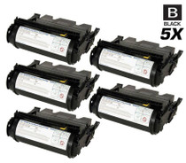 Compatible Dell 5200 Toner Cartridge High Yield Black 5 Pack