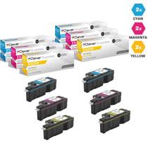 Compatible Dell Laser Toner Cartridges 2 X CMY - 6 Color Set (593-BBJU/ 593-BBJV/ 593-BBJW)