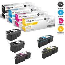 Compatible Dell Laser Toner Cartridges 2 Black and CMY - 5 Color Set (593-BBJX/ 593-BBJU/ 593-BBJV/ 593-BBJW)