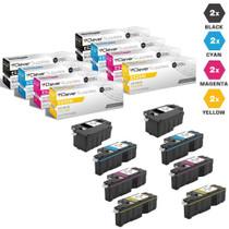 Compatible Dell Laser Toner Cartridges 2 X BCMY - 8 Color Set (593-BBJX/ 593-BBJU/ 593-BBJV/ 593-BBJW)