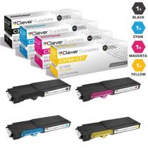 Dell C3760n Premium OEM Quality Toner Compatible Cartridge Extra High Yield 4 Color Set