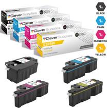 Compatible Dell E525W Premium Quality Laser Toner Cartridges 4 Color Set